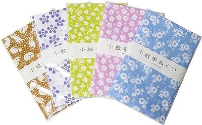 小紋 手ぬぐい 和風 日本製 Japan style てぬぐい 綿100% 約33×90cm (G.5枚セット)