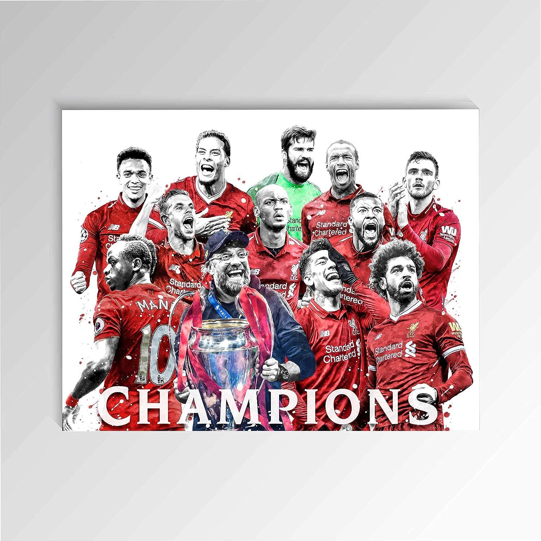 Watercolor Liverpool Poster FC Final Albuquerque Mall Winner S Salah Direct store