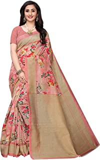 Anni Designer Women's Silk Printed Saree With Blouse Piece