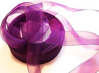 10m Organzaband 6mm Schleifenband Organza flieder lila 0,18 €//m