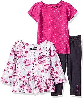 kensie Baby Girls' Fashion Top, T-Shirt and Legging Set