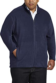 Amazon Essentials Men's Big & Tall Full-Zip Polar Fleece Jacket fit by DXL