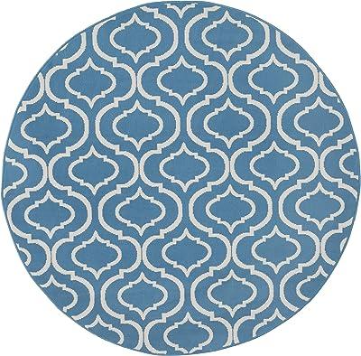 Marque Amazon - Movian Timok Tapis rond, 160x160cm, Motif formes géométriques