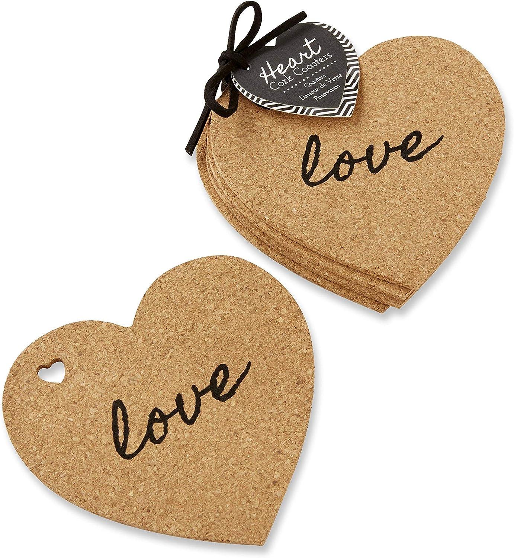 Kate Aspen Heart Cork Coaster 24 96 Perfec ●手数料無料!! Coasters Sets of 国内正規総代理店アイテム 4