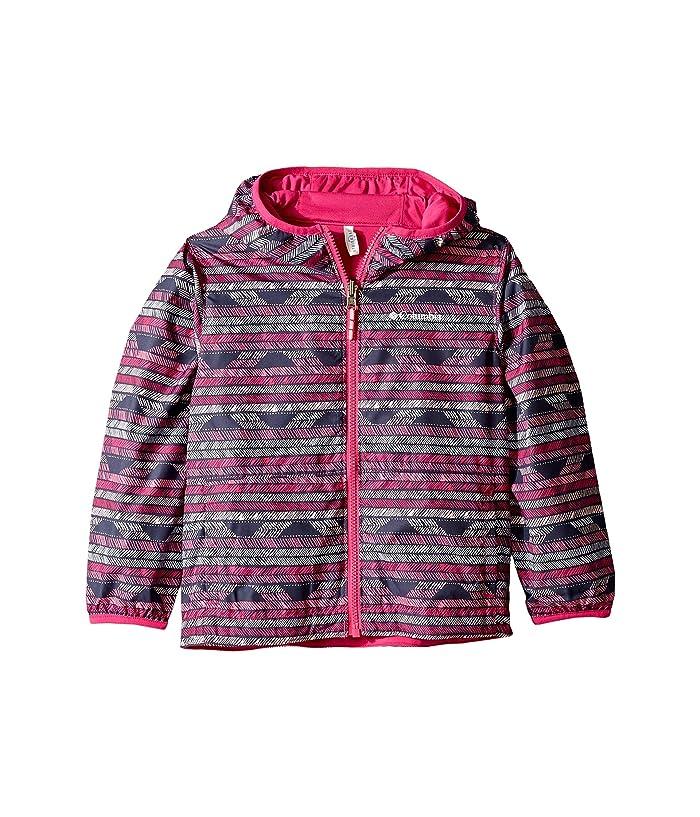 3aac06e18 Columbia Kids Pixel Grabbertm Reversible Jacket (Little Kids/Big Kids)  (Haute Pink Chevron/Haute Pink) Girl's Coat