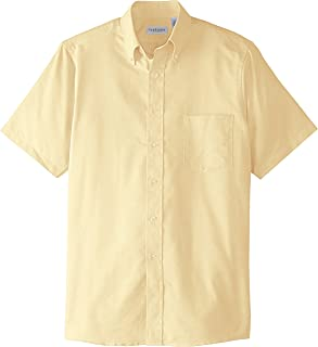Van Heusen Mens Dress Shirts Short Sleeve Oxford Solid...