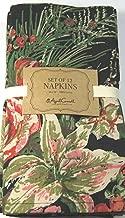 April Cornell Set of 4 Holiday Napkins Vibrant Floral Black 16