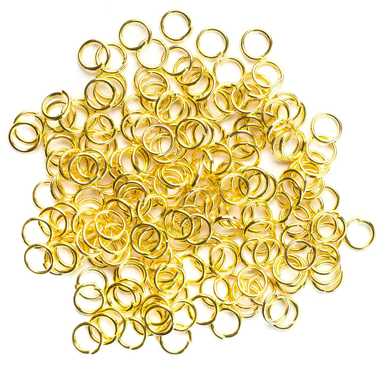 Cousin DIY 200pc 6mm Open Jump Ring- Gold