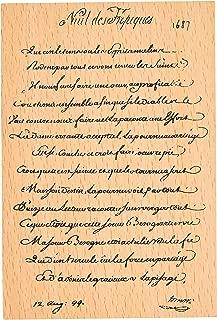 MissOrange『木製ゴム印』大きいサイズ クリエイティブスタンプ クラフトカード スクラップブッキング 手帳用 M-23 (Script Font)