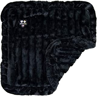 product image for Bessie and Barnie Black Puma Luxury Ultra Plush Faux Fur Pet, Dog, Cat, Puppy Super Soft Reversible Blanket (Multiple Sizes)