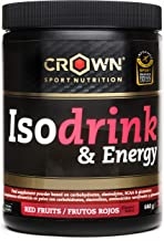 Crown Sport Nutrition Isotonic Drink Sport Energy Drink with carbohydrates Electrolytes BCAAs and Glutamine Wild Strawberry Flavour – 640 gr Estimated Price : £ 19,89
