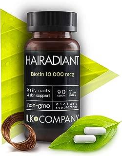 Biotin 10,000 MCG - Non-GMO - Hair Growth Essential Treatment for Men & Women - Longer & Healthier Hair and Nails - Radiant Skin - 90 Capsules