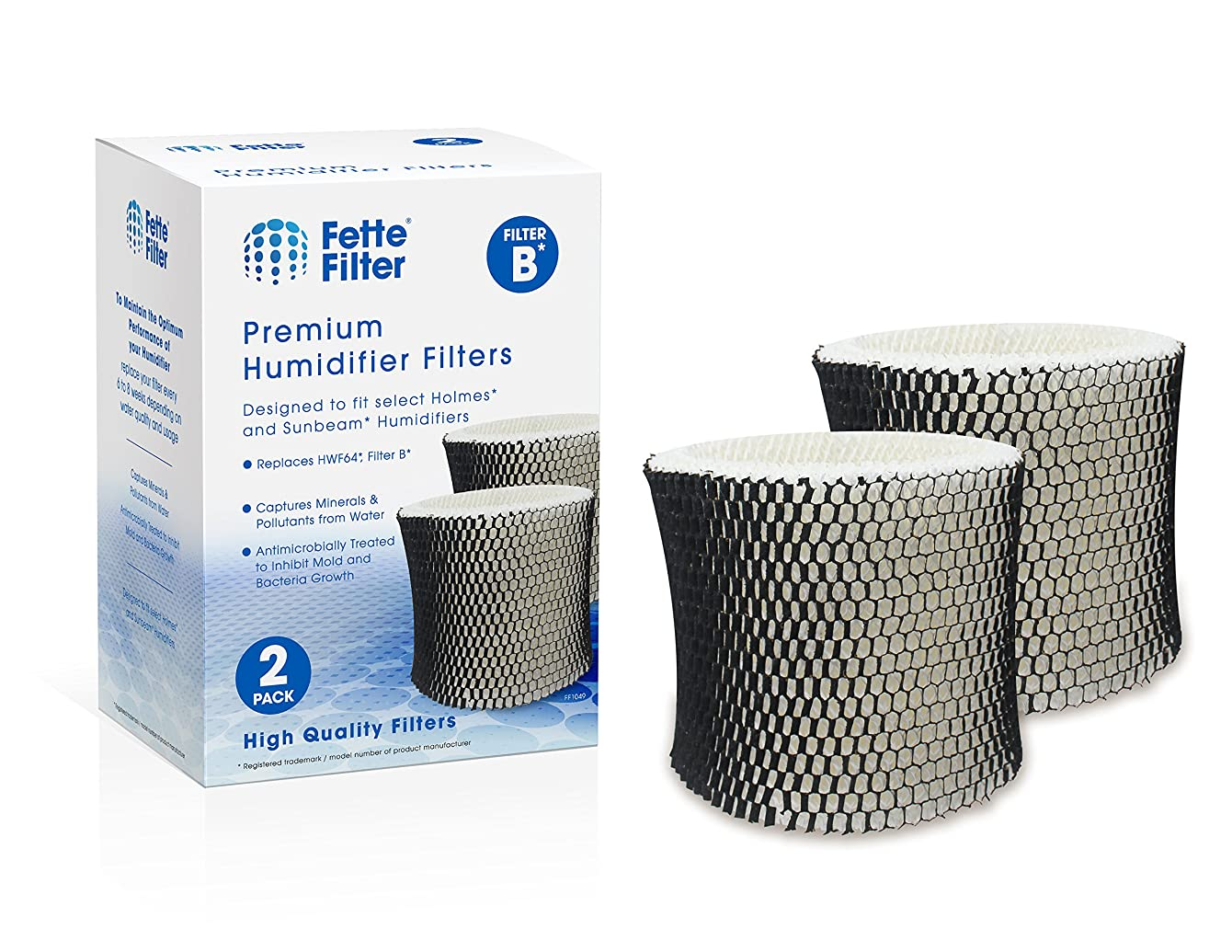 Fette Filter - Humidifier Filter Compatible with Holmes HWF64 - Filter B
