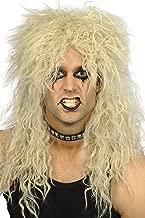 Smiffy's Men's Hard Rocker Wig Blonde Long Tousled