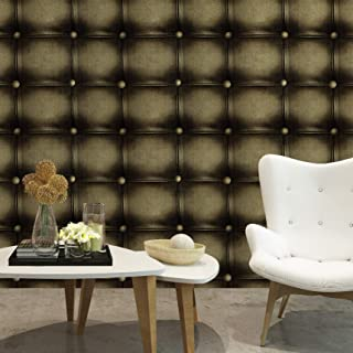 HaokHome 631063 Faux Leather Textured Peel and Stick Wallpaper 17.7