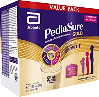 PediaSure Gold Value Pack - Classic Vanilla, 2.4kg (4 x 600g)