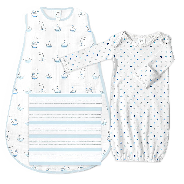 SwaddleDesigns Baby Gift Set with モデル着用&注目アイテム Muslin 3 Pieces Sleeping 人気の製品 Sack