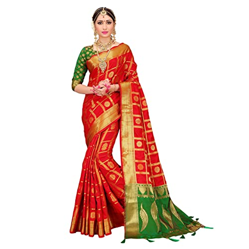 f30581673477ed ELINA FASHION Sarees for Women Patola Art Silk Woven Work Saree l Indian  Wedding Ethnic Sari