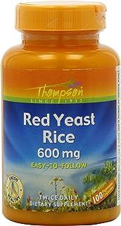 Thompson Red Yeast Rice Veg Capsules, 600 Mg, 100 Count