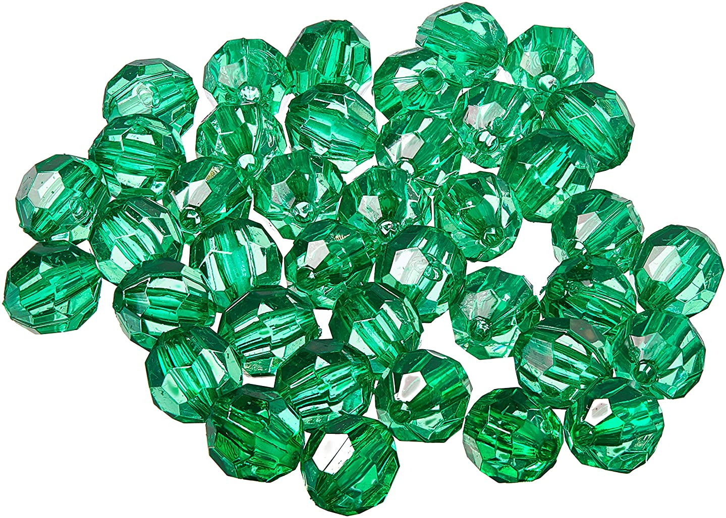 DARICE 06101-5-T12 Bead Faceted Christmas, Green
