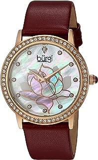 Burgi Women's Analogue Display Quartz Leather Dress Watch