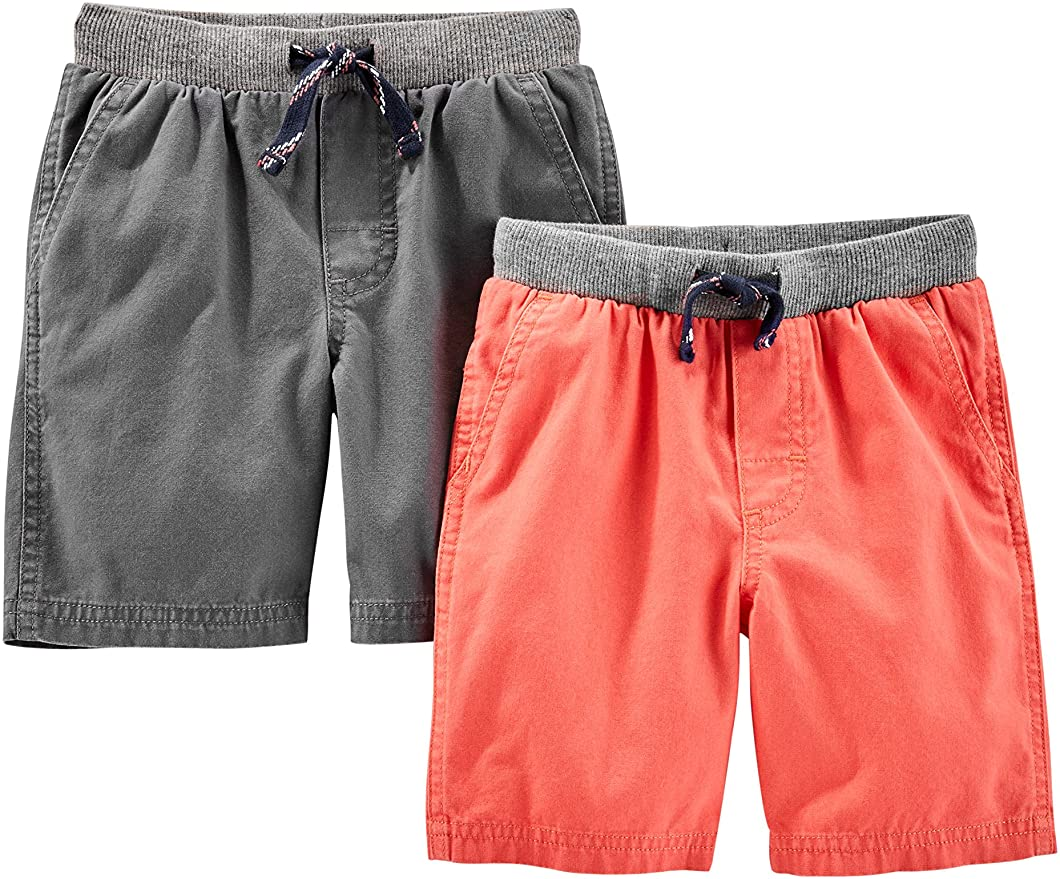 Infant-and-Toddler-Shorts Beb/é-Ni/ños Simple Joys by Carters 3-Pack Knit Shorts