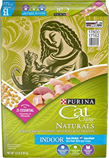 Purina Cat Chow Naturals Indoor With Real Chicken & Turkey Hairball & Weight Control Adult Dry Cat Food