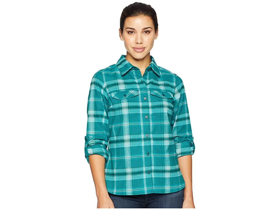 Columbia Silver Ridge Long Sleeve Flannel Shirt (Dark Ivy Ombre Window Plaid) Women