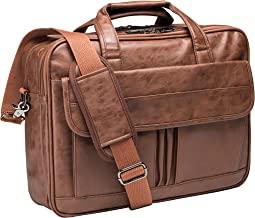 Men's Business Travel Briefcase Leather Handmade Messenger Bags Laptop Bag