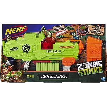 Hasbro Nerf E0311EU4 Zombie Strike Revreaper, Spielzeugblaster mit sichtbarem Zahnrad-Mechanismus, Multicolor