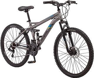 Mongoose Cache Bicicleta de montaña para Hombre, 66 cm, Color Gris
