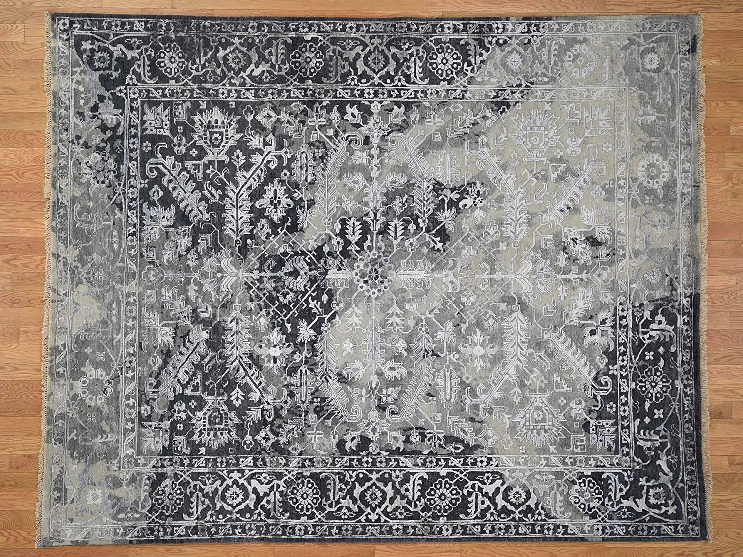 8'x10' Broken Attention brand Persian Heriz All Wool Silk Design Over Super beauty product restock quality top Hand-Kno