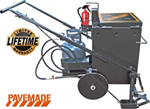 Hotbox 10 2-in-1 Asphalt Melter Applicator Holds 10 Gallons of Hot Rubberized Crack Sealant