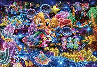 Tenyo (DS-771) Disney Stained Art Wishing to Starry Sky Jigsaw Puzzle (1000 Piece)
