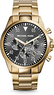 Michael Kors Gage Chronograph Black Dial Gold-Tone Mens Watch MK8361