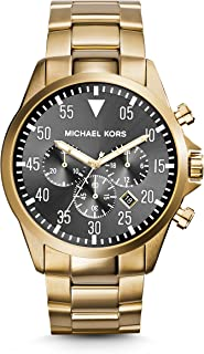 Gage Chronograph Black Dial Gold-Tone Mens Watch MK8361