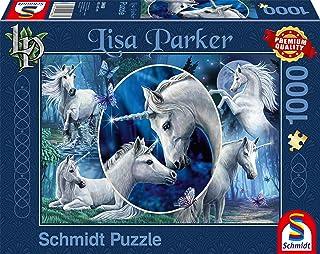 Schmidt 59668 Lisa Parker: Mythical Unicorns Jigsaw Puzzle, 1000pc