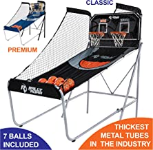 Shootout Basketball Arcade Game, Home Dual Shot with LED Lights and Scorer –..