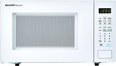 SHARP White Carousel 1.4 Cu. Ft. 1000W Countertop Microwave Oven (ISTA 6 Packaging)