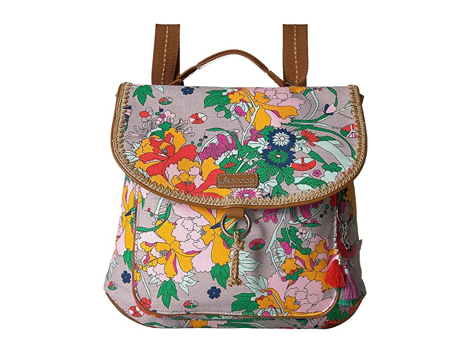 Sakroots Convertible Backpack (Lilac Flower Power) Backpack Bags