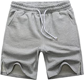 Manwan walk Men's Casual Classic Fit Cotton Elastic Jogger Gym Drawstring Knit Shorts