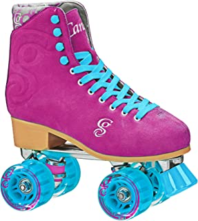 Roller Derby Elite Candi Girl U774 Carlin Quad Artistic Roller Skates, Raspberry Ladies Size 07
