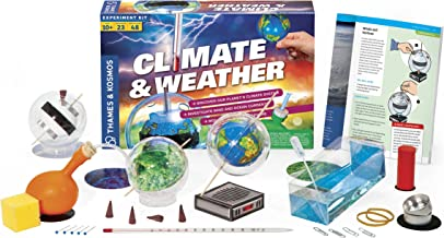 Thames & Kosmos Climate & Weather Science Kit   Learn About Climate Change, Global Warming, Ocean Currents   23 Stem Experiments   48 Page Color Manual   Winner Dr. Toy Best Green Toy Award