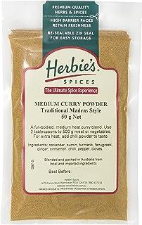 Herbie's Curry Powder Medium Madras, 50g