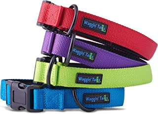 Classic Comfort Dog Collar Premium Nylon Neoprene Padded Dog Collar for Small, Medium, Large or XLarge Sized Dog Comfortable Collar for Your Dog by Wagtime Club