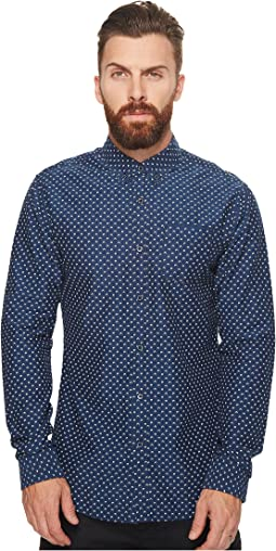 Scotch & Soda - Ams Blauw Slim Fit All Over Printed Shirt in Seasonal Pattern