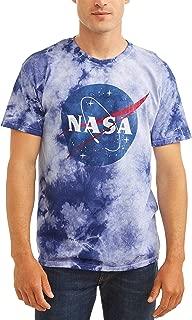 NASA Space Men's Meatball Logo Tie Dye T-Shirt Tee