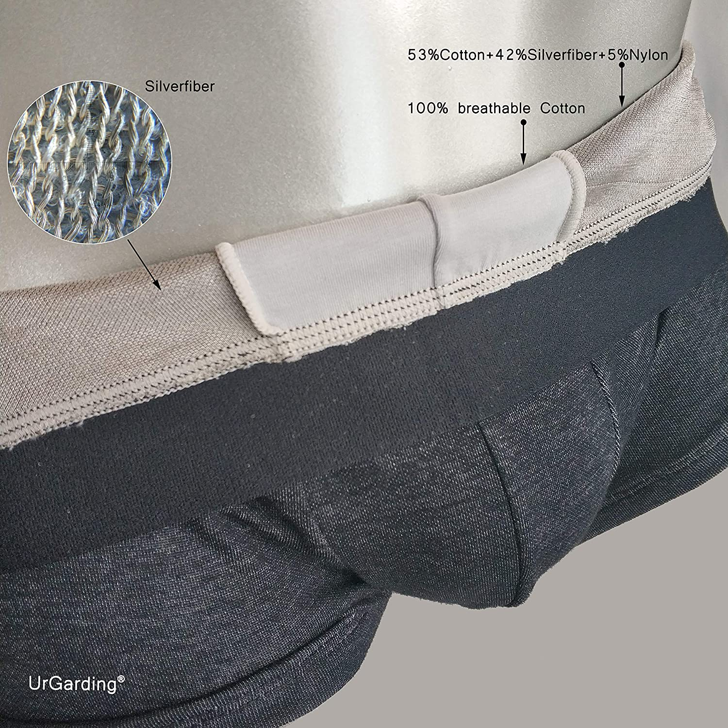 UrGarding EMF shielding boxer brief protect your pouch with anti radiation underwear