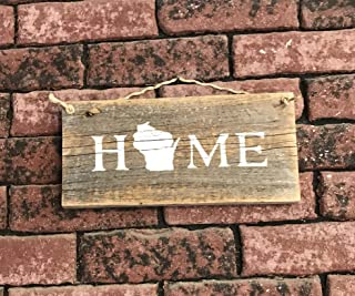 Wisconsin State Home Barn Wood Sign