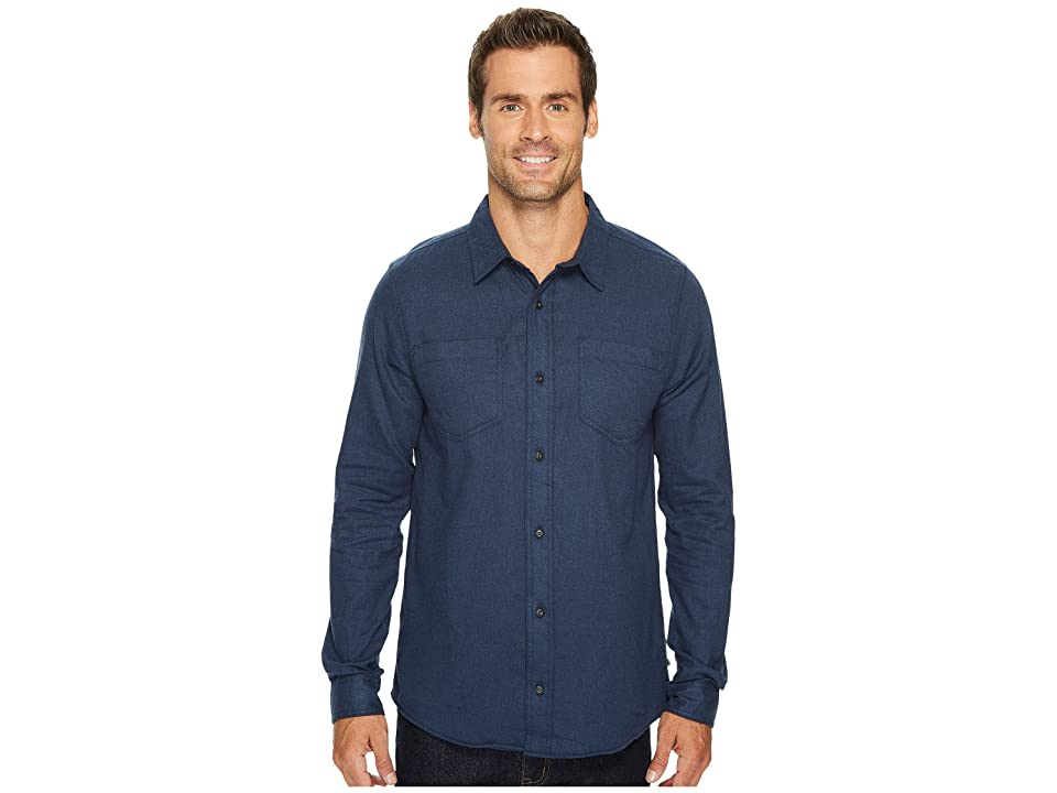 Toad&Co Flannagan Solid Long Sleeve Shirt (Deep Navy Heather) Men